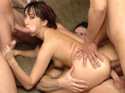 Asian gangbang for porn movies with hardcore fuck